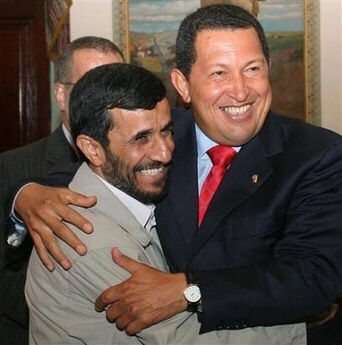 Ahmadinejad and Chavez Brace